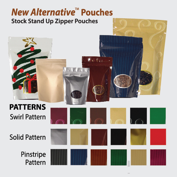 New Alternative stand up pouch bags